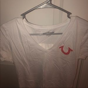 True Religion white Logo T-shirt ❤️